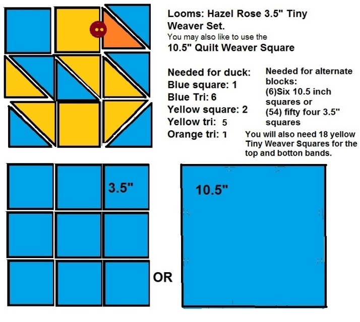 Lay out for duck quilt